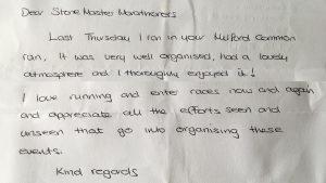 Milford Murder Feedback Letter