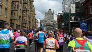 Tower Bridge looms!
